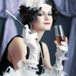 Retro flapper style - Stock Photo