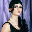 Retro flapper style — Stock Photo