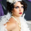Retro flapper style — Stock Photo #24718205