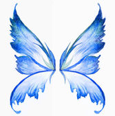 Blue fairy wings — Stock Photo