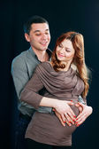 Pregnant woman and man — Stock Photo