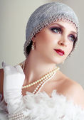 Young flapper woman — Stock Photo
