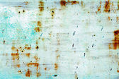 Rusted blue painted metal wall — Stock Photo
