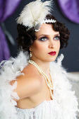 Retro flapper style — Stockfoto