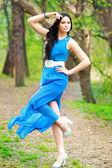 Woman in fairy forest — Fotografia Stock