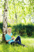Blond woman relaxing — Stock Photo