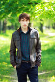 Young man outdoors — 图库照片