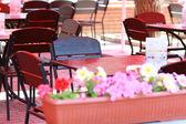 Boş açık kafe — Stok fotoğraf