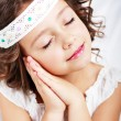 Girl showing it is time to sleep — Stock Photo