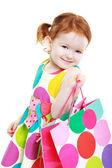 Маленькая девочка шопоголика — Стоковое фото