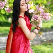 Indian woman in the park — Stock Photo
