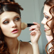 Stock Photo: Womdirects make-up