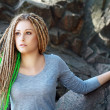 Fashion hairstyle with dreads — Stock Photo #29148991