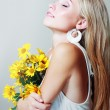 Stock Photo: Beautiful blond woman