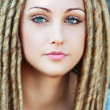 Fashion hairstyle with dreads — Stock Photo #29149909