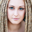 Fashion hairstyle with dreads — Stock Photo #29149969