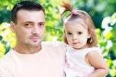 父亲和女儿 — 图库照片