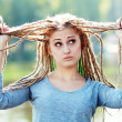 Young woman with dreadlocks — Stock Photo #29150395