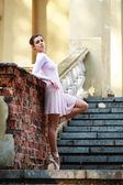 Ballerina outdoors — Stock Photo