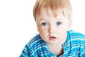 Boy on white background — Stock Photo