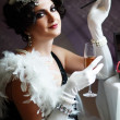 Lady from roaring 20s — Stock Photo