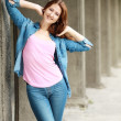 Happy teenage girl — Foto Stock