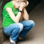 Sad teenage girl — Stock Photo