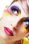 ženy s dokonalé umění tvoří — Stock fotografie