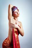 Woman in turban — Stock Photo
