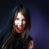 Halloween woman — Stockfoto