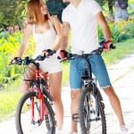 Couple with their bikes — Stock Photo #34303891