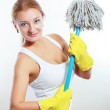 Cleaning women — Stock Photo