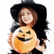 Happy witch girl — Stock Photo