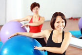 Women at the gym — Stockfoto