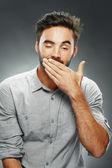 Man yawning — Stock Photo