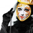Venetian mask make up — Stock Photo