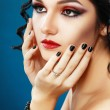 Lady Vamp Style — Stock Photo