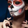 Halloween make up sugar skull — Foto de Stock