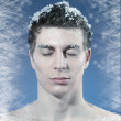 Young frozen man — Stock Photo #40220457