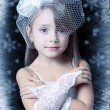 Little winter girl princess — Stock Photo