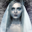 Stock Photo: Frozen zombie corpse bride