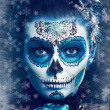 Winter make up sugar skull — Stock Photo #40221421
