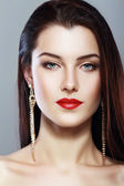 Woman face with perfect make up — Stock Photo