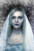 Frozen zombie corpse bride — Stock Photo
