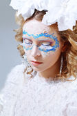 Woman with ice and snow style makeup — Stock Photo