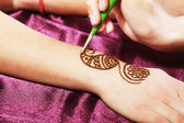 Henna being applied — Stock Photo