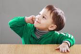 Little boy have an idea — Stock Photo