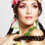 Постер, плакат: Hawaiian girl make up