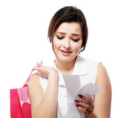 Shopaholic overspending — Stock Photo