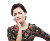 Woman having toothache — Stockfoto